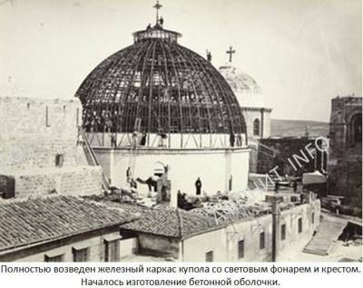 Храм Гроба Господня. Восстановление купола. XIX в.