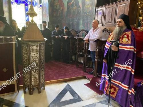 Игорь Додон в Пантелеимоновом монастыре на Афоне
