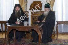 Патриарх Болгарский встретился с делегацией афонских монастырей св. Пантелеимона и Ксенофонт
