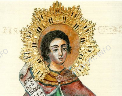 икона великомученика Пантелеимона «на камне»
