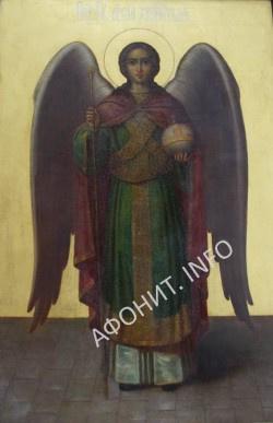 Икона Ангела-Хранителя, подаренная В. Путиным игумену Иеремии