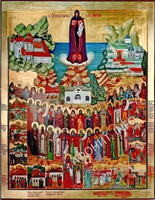 Икона всех Преподобных Русских Святогорцев