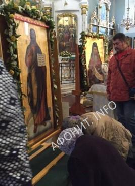Чудотворная икона Спасителя, с которой связано чудо явления Господа Иисуса Христа прп. Силуану Афонскому