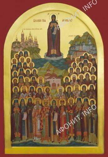 Собор всех Преподобных Русских Святогорцев. Автор концепции образа Сергей Шумило, 2016 г.