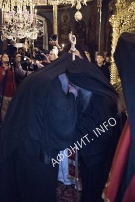 Вручение игуменского жезла