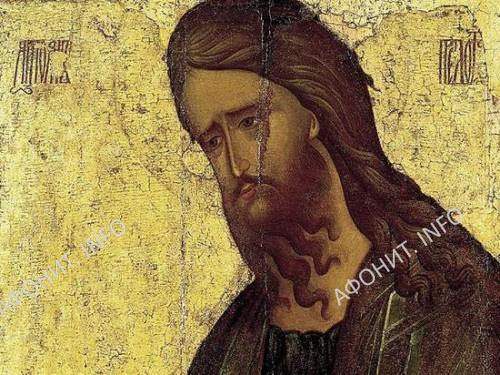 Иоанн Предтеча. 1 четверть XV в. Икона из Николо-Пешношского монастыря