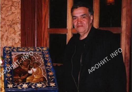 Иосиф Муньос с чудотворной Иверской Монреальской иконой Божией Матери
