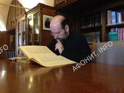 Архиепископ Телмисский Иов (Геча) в афонском монастыре Симонопетра