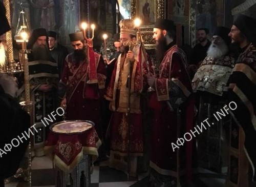 Архиепископ Телмисский Иов (Геча) в монастыре Симонопетра на Афоне