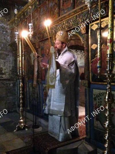 Архиепископ Телмисский Иов (Геча) в монастыре Влатадон в Салониках