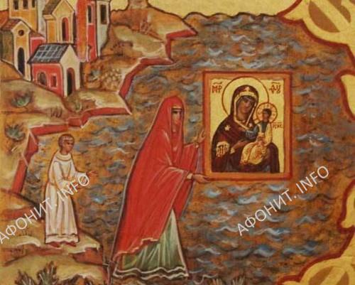 Иверская икона Богоматери на море