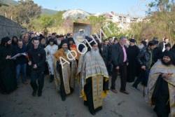 Крестный ход с Иверской иконой на Афоне