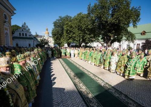 Торжества в день памяти прп. Антония Печерского в Киево-Печерской Лавре, 23 июля 2017 года