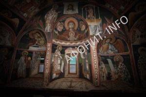 Келлия св. Стефана - роспись алтаря после реставрации