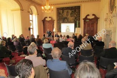 Николас Феннел  на международной конференции «Святая Гора Афон и Русь: 1016-2016» в Кембридже, 4 февраля 2017 г.