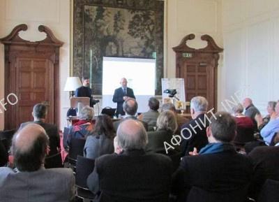 Сергей Шумило  на международной конференции «Святая Гора Афон и Русь: 1016-2016» в Кембридже, 4 февраля 2017 г.