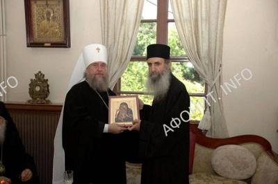 Делегация РПЦ посетила Священный Кинот Афона