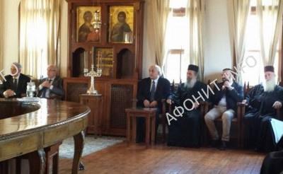 Делегация Министерства иностранных дел Греции в Священном Киноте Афона