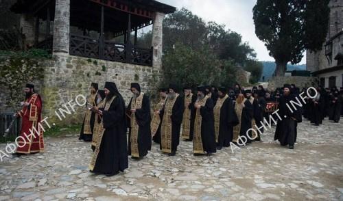 Погребение духовника монастыря Хиландар на Афоне иеросхимонаха Кирилла (Вешковац), 7 февраля 2018 г.