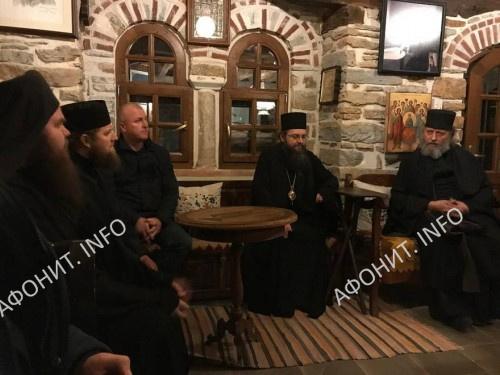Паломнический визит на Святую Гору делегации Нежинской епархии УПЦ на Афон