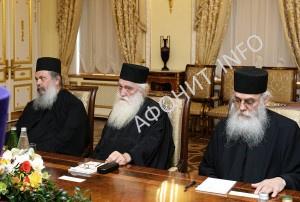 Встреча Святейшего Патриарха Кирилла и представителей Комиссии Священного Кинота Афона