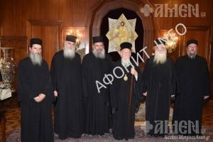 Патриарх Варфоломей обсудил с представителями Кинота Афона вопросы празднования 1000-летия русского монашества