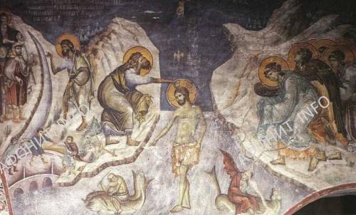 Крещение Господне. Византия. XIII в.