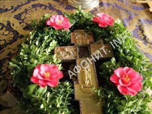 Крест с частицей Креста Господня, Афон, Пантелеимонов монастырь