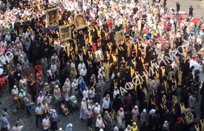 80 000 приняли участие в Крестном ходе в Киеве в честь 1000-летия древнерусского монашества на Афоне