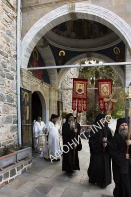 Крестный ход в Русском Пантелеимоновом монастыре на Афоне