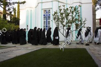 Крестный ход на Светлой седмице в Русском Пантелеимоновом монастыре на Афоне