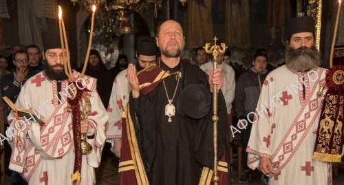 Епископ Йоэнсууйский Арсений в монастыре Ксенофонт на Афоне