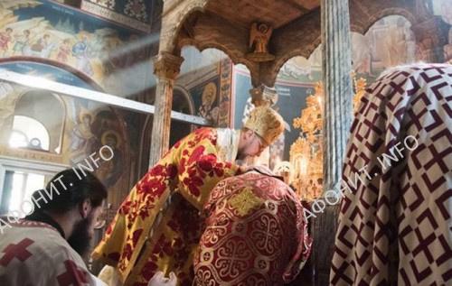 Рукоположение афонского монаха Дамаскина (Олкинуора) в Ксенофонтовом монастыре на Афоне для служения в Финляндии