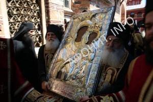 """В афонском монастыре «Ксенофонт» почтили чудотворную икону Богородицы """"Одигитрия"""""""