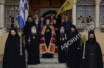 Панигир в Ксенофонтовом монастыре на Афоне в честь св. Георгия Победоносца