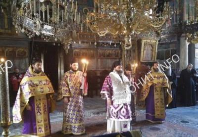 Делегация Лагадской митрополии совершает паломничество на Афон