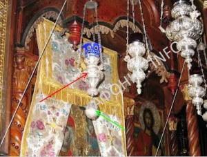 лампада от чудотворной иконы святой Анны в афонском скиту святой Анны