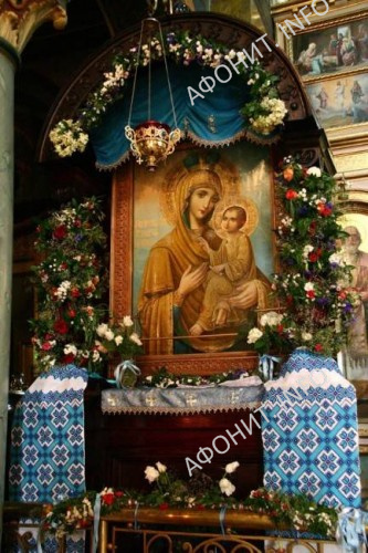 Афонская Чудотворная Львовская-Тихвинская икона Богородицы