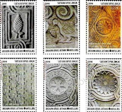 Марки с изображениями барельефов Афона