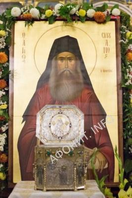 В Россию принесены мощи преподобного Силуана Афонского и чудотворная икона Спасителя