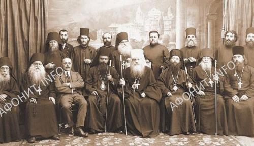 Митрополит Антоний (Храповицкий) и святитель Николай (Велимирович) в Руссике. Май 1920 г.