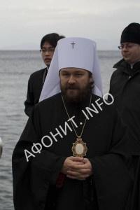 Митрополит Иларион (Алфеев) в Афонском Пантелеимоновом монастыре