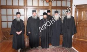 Митрополит Иларион (Алфеев) в Священном Киноте Афона