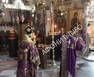 Митрополит Иларион (Алфеев) в Протате Афона