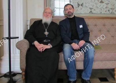 Митрополит Каллист (Уэр) и директор МИАНУ Сергей Шумило в Оксфорде