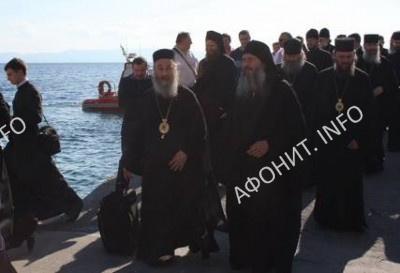Делегация УПЦ во главе с Митрополитом Онуфрием прибыла на Святую Гору Афон