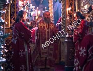 Предстоятель УПЦ и Председатель ОВЦС МП возглавили Литургию в Афонском Пантелеимоновом монастыре