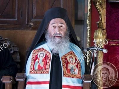 Митрополит Онуфрий на Афоне в Свято-Пантелеимоновом монастыре
