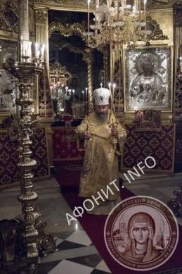 Митрополит Киевский и всея Украины Онуфрий в Афонском Свято-Пантелеимоновом монастыре