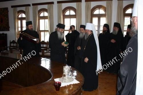 Делегация УПЦ посетила Священный Кинот Афона. Фото Сергея Шумило, 22 июля 2016